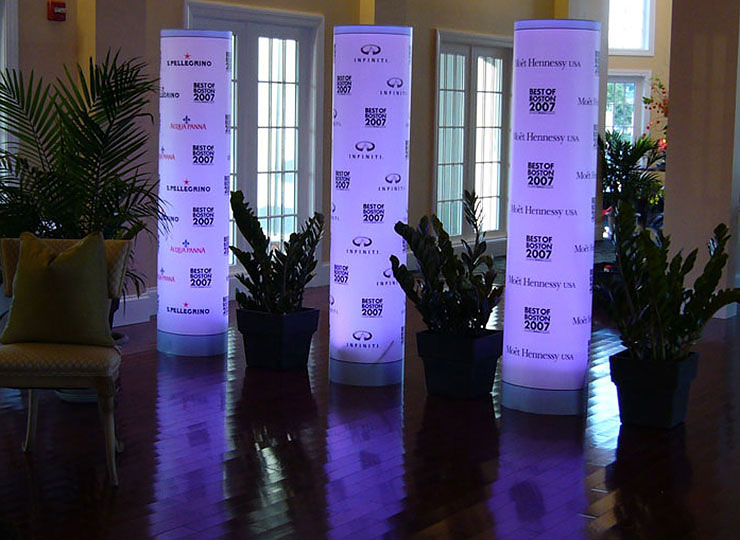Branded Light Up Column
